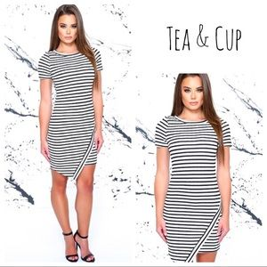 [Tea and Cup] Striped Dress